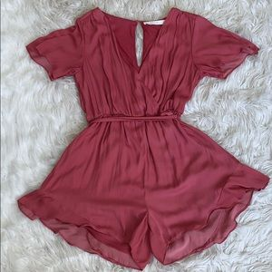 Pink romper that I wore to my homecoming!